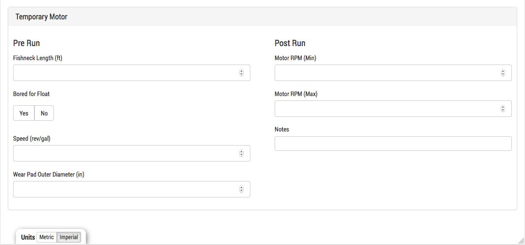 BHA Pre-Run and Post-Run Information